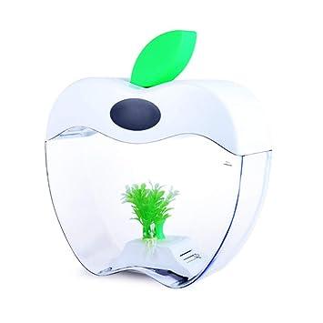 REWQ Acuario Acuario Creativo Fruta USB de Escritorio Mini pecera LED iluminación Calendario Moda Tanque de