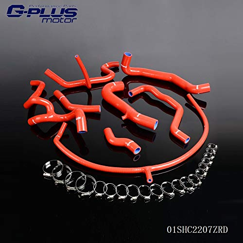 Golf Vr6 Gti - Silicone Radiator Coolant Hose Kit Clamps For VW Volkswagen GOLF GTI MK3 VR6 2.8 V6 1994-1998 Red