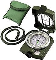 Compass, VinTeam Hiking Compass Military Compass Multifunctional Waterproof Metal Sighting Compass with Carryi