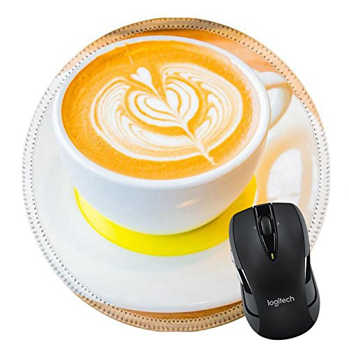 Cappuccino Biscotti (MSD Mousepad Round Mouse Pad/Mat 28611438 Latte art coffee)