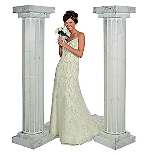 6 Feet Marble Look Fluted 2 Set Columns Wedding Party Decoration Celebration New --P#EWT43 65234R3FA60021