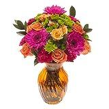 eFlowy Summer Colors Floral Vase Arrangement