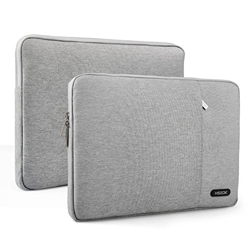 Laptop Sleeve, HSEOK Waterproof Fabric Polyester Pouch Sleeve Carrying Case Bag Cover for 12.9 iPad Pro & 13-13.3 inch Notebook Computer / MacBook Air