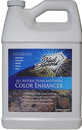 Natural Limestone (Color Enhancer Sealer For All Natural Stone and Pavers. Marble, Travertine, Limestone, Granite, Slate, Concrete, Grout, Brick, Block. (Gallon, 1))