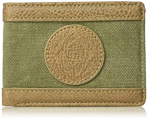 Budweiser by Buxton Men's Eagle Wings Front Pocket Slimfold Accessory, green, ()
