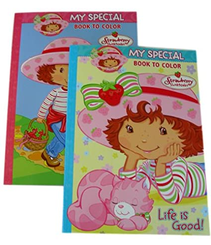 amazoncom strawberry shortcake coloring activity book strawberry shortcake coloring book 2pcs toys games - Strawberry Shortcake Coloring Book