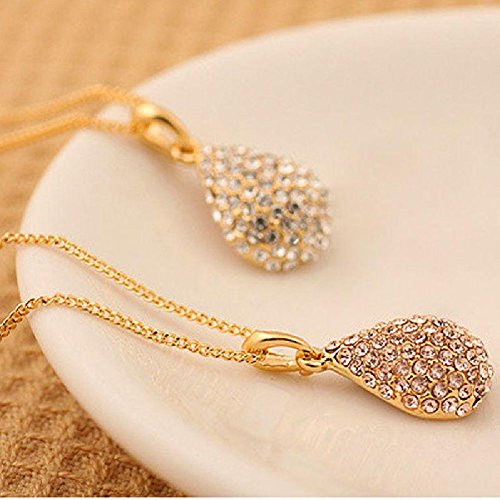 Crystal Teardrop Waterdrop Pendant Necklace product image
