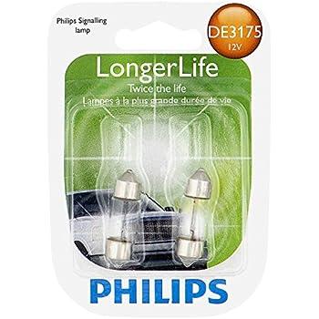 Philips DE3175 LongerLife Miniature Bulb, 2 Pack