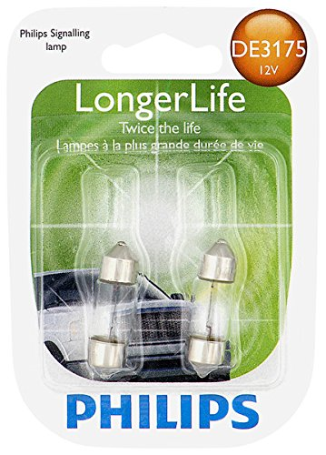 Philips DE3175 LongerLife Miniature Bulb, 2 (Dome Light Bulb)