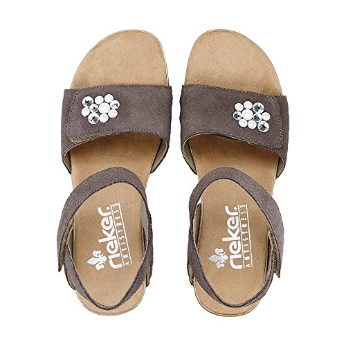 Rieker Damen Sommer-Sandalette Taupe