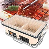 japanese bbq table grill - TBvechi Barbecue Charcoal Grill, 40cm Large Ceramic Japanese Table Grill BBQ Portable Yakitori Barbecue Charcoal Grill Tailgate