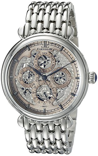 Thomas Earnshaw Men's ES-8043-33 Grand Calendar Analog Display Automatic Self Wind Silver Watch