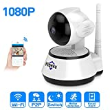 HisEEu 1080P Wireless security camera IP Wifi Camera Home Surveillance Camera for Baby/Elder/Pet/Nanny Monitor,Night Vision Two-Way Audio Remote Control 2.4G WiFi for Baby Monitor CCTV Cameras