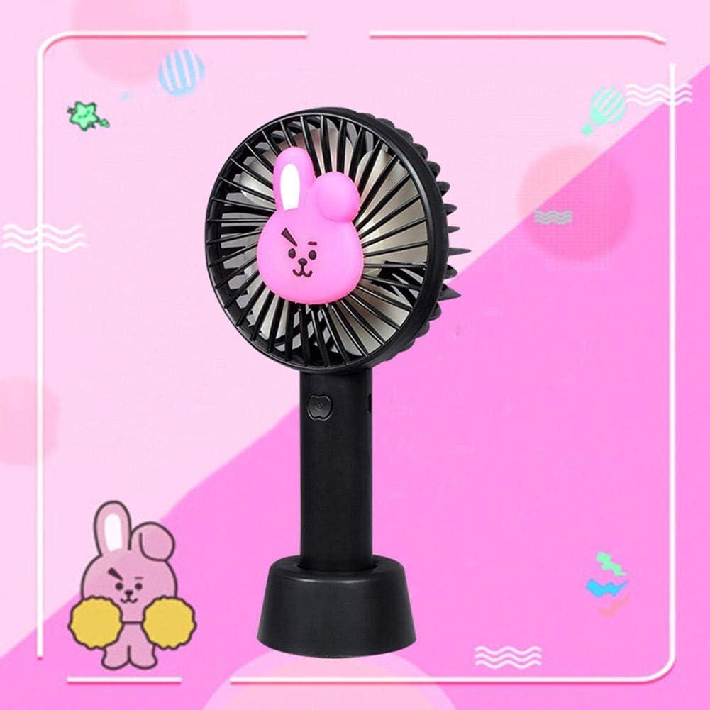 juman634 Mini Ventilador Portátil Mano Versión Linda Ventilador Plástico Elektrische Ventiladores PVC Dibujos Animados CHIMMY Cooky Tata Mini Ventiladores Draagbare: Amazon.es: Hogar