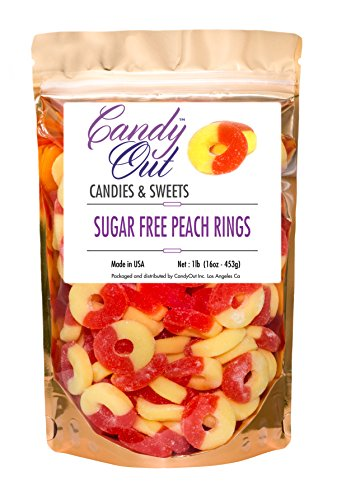 sugar-free-peach-rings-gummy-candy-1lb-16oz-in-resealable-stand-up-bag