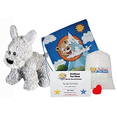 Make Your Own Stuffed Animal Mini 8 Inch Charlie The Cheetah Kit - No Sewing Required!: Toys & Games