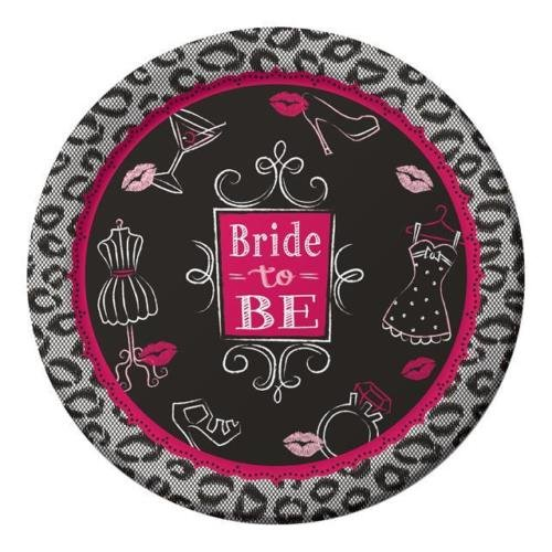 Creative Party Bridal Bash Bride To Be Sturdy Paper Party Dinner Plates (8 Pack)