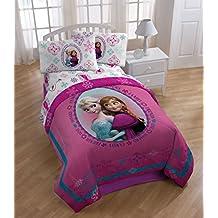 Disney Frozen Anna and Elsa Snowflake Twin/Full Reversible Comforter