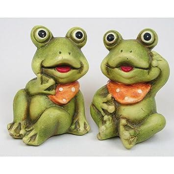 Unbekannt Juego de 2 fruteros de cerámica con pañuelo para el Cuello, 2 Figuras de cerámica pintadas a Mano y tratadas a Mano.: Amazon.es: Juguetes y juegos