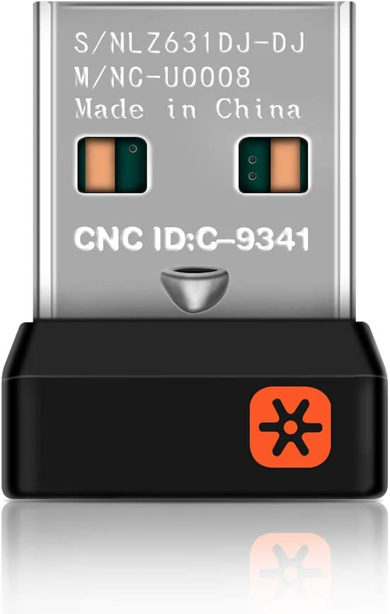 ALLOMN Adaptador de Receptor Inalámbrico, WiFi Nano Receptor Dongle para Logitech Unifying Inalámbrico Teclado M215 M235 M325 M545 6 Canales 6MM