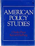 American Policy Studies, C. Press and K. Verburg, 0471078662
