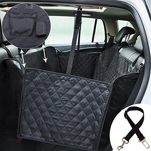 Kingstar Dog Car Seat Cover for Pets,Waterproof Pet Seat Cover Hammock Nonslip Pets Car Back Seat Covers Dog Cat Car Protector Hammocks for Trucks SUV Family Van Sedan