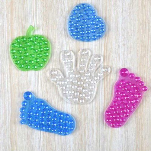 Silicone Double Sides Foot-shaped Sucker Bathroom Cupule(Random: Shape)