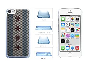Metal Chicago Flag Clear Plastic Phone Case Back Cover Apple iPhone 5c