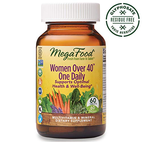 - MegaFood, Women Over 40 One Daily, Daily Multivitamin and Mineral Dietary Supplement with Vitamins C, D, Folate, Biotin and Iron, Non-GMO, Vegetarian, 60 Tablets (60 Servings) (FFP)