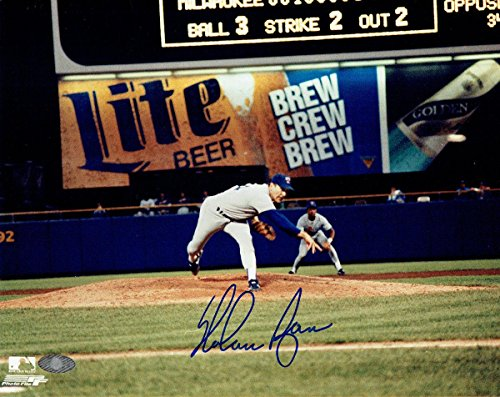 Signed Nolan Ryan Photo - authentic Miller Lite 8x10 Hologram - Autographed MLB Photos ()