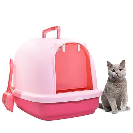 AOLVO - Arenero para Gatos con Tapa, con Capucha, con arenero a Juego,