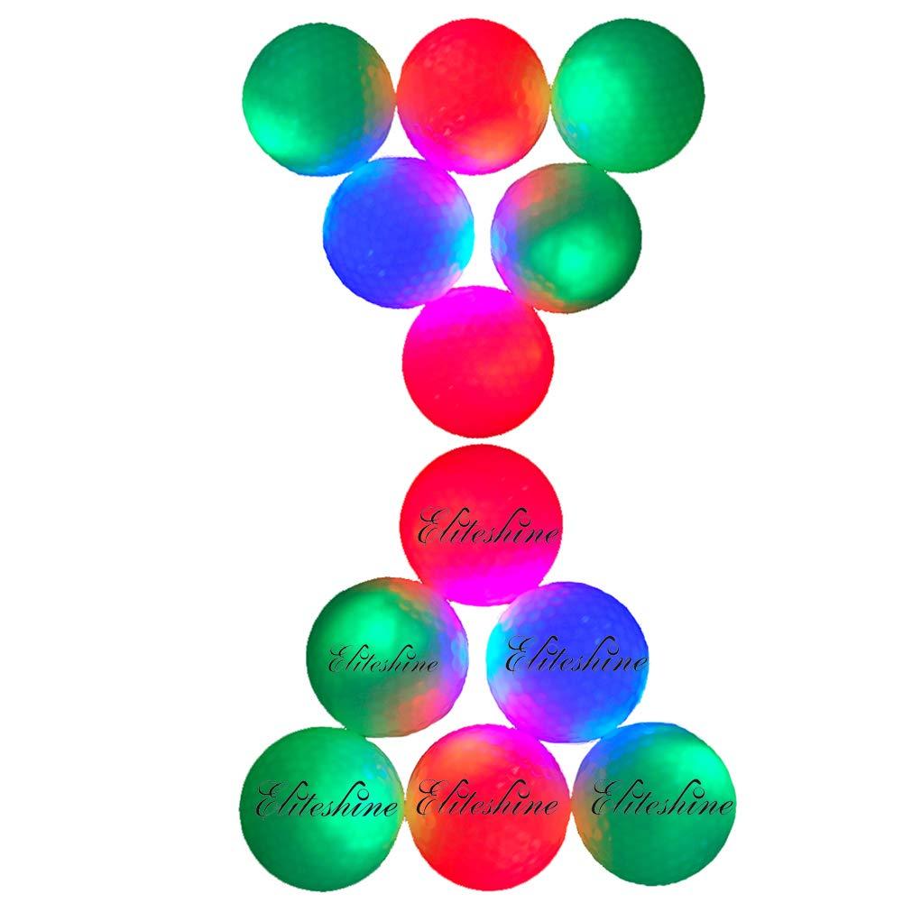 新しい練習範囲LED点滅ゴルフボール( 14-piece混合色)   B073CB7HTQ