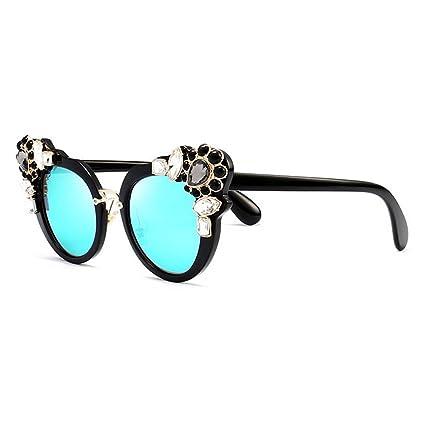 Barroco Cristal Decoración Flores Gafas de Sol para Mujer ...