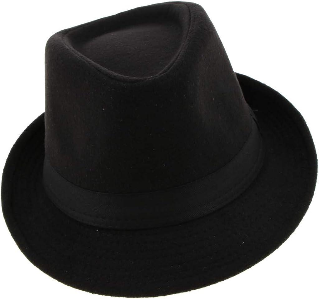 Fenteer Cappelli a Tesa Stretta Strutturata Stile Irlandese Retro Moda Cappello Fedora da Uomo