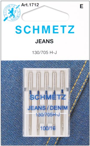 (Euro-Notions 1712Jean & Denim Machine Needles-Size 16/100 5/Pkg)