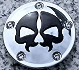 i5 Chrome/Black Skull Points Cover for Harley Davidson Softail Dyna 1999-2020.