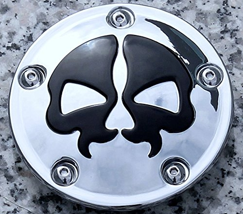 i5 Chrome/Black Skull Points Cover for Harley Davidson Softail Dyna 1999-2020. by i5 Motorcycle (Image #1)