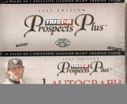 2007 Tri-Star Prospects Plus Baseball Factory Sealed Hobby Box (Each Pack includes 1 Autograph)