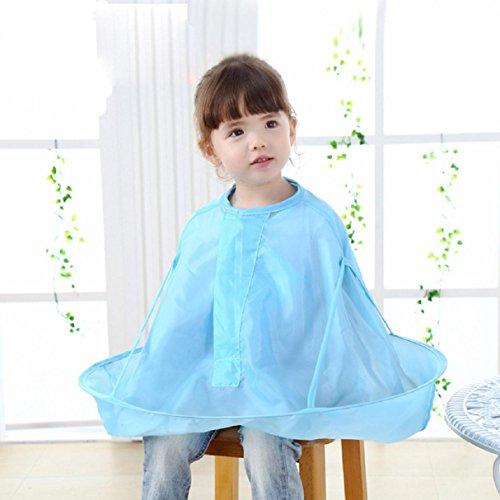 Apron Bibs, Witspace Kids Child Cutting Hair Apron Waterproof Collar Cloth Salon Barber Cape Hairdressing Apron Bibs (Blue)