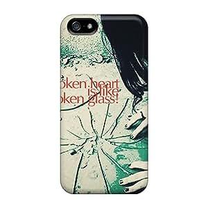Excellent Design Broken Heart Phone Case For Iphone 5/5s Premium Tpu Case