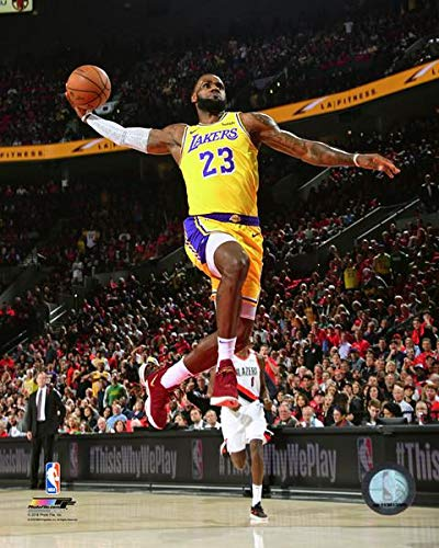 Lebron James Los Angeles Lakers 2018-19 NBA Action Photo (Size: 8