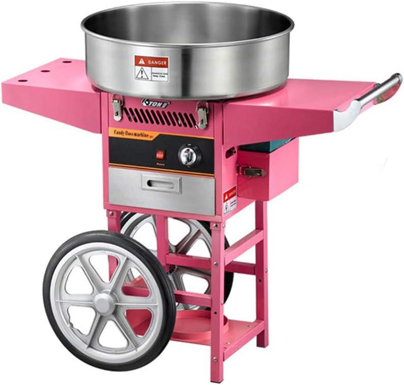 ANYUN Máquina de algodón de azúcar, algodón Comercial Máquina de Hilo Dental Rosa Retro, Ideal para niños Fiesta de cumpleaños Niños con Sabor a algodón de azúcar Navidad Navidad: Amazon.es