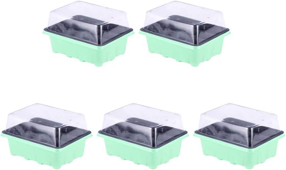 Yardwe 5 Juegos Invernadero peque/ño Mini Invernadero 12 Compartimentos con Tapa