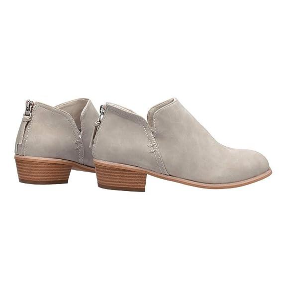 Tacón 2cm Mujeres Otoño Invierno Botines Tobillo Botas Señoras Plataforma Zapatos Altos Talones Martin Botas Botas de Agua Bota de Goma Mujer Impermeable ...