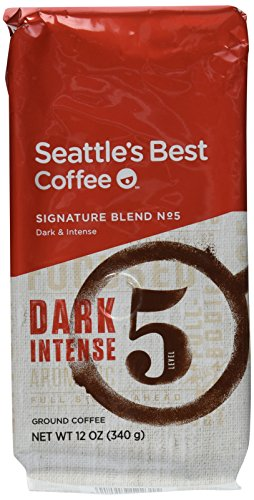 Seattle's Best Ground Coffee Post Alley No.5 Dark Roast Blend Smoky and Intense 12 Ounce Bags (3 Pack)