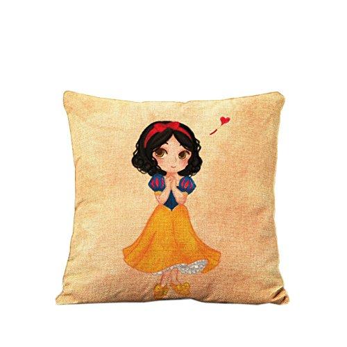 Crazy Cart Short Black Hair Princess Pillow Home Decorative Pillowcase Cushion Cover Girl's Gift