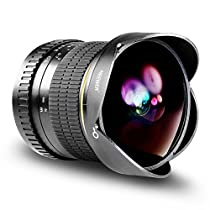 Neewer プロ8mm f/3.5非球面HD魚眼レンズ Nikon DSLR 8-8mmに対...
