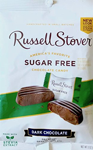 Russell Single (Russell Stover Sugar Free Chocolate Candy Dark Chocolate , Peanuts & Coconut Net Wt 3oz (Dark Chocolate, single))