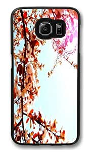 Cherry blossoms Polycarbonate Hard Case Cover for Samsung S6/Samsung Galaxy S6 Black