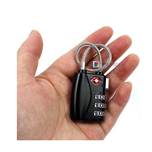 Ruick TSA Luggage Lock 3 Pack,3 Digit Combination Travel Lock with Alert, for Travel Safety and Security, Suitcase, Baggage, Gym, school & fence (A-3 Digit 3 Pack) by Ruick (Image #6)